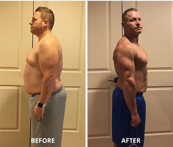 before and after weight loss success story man