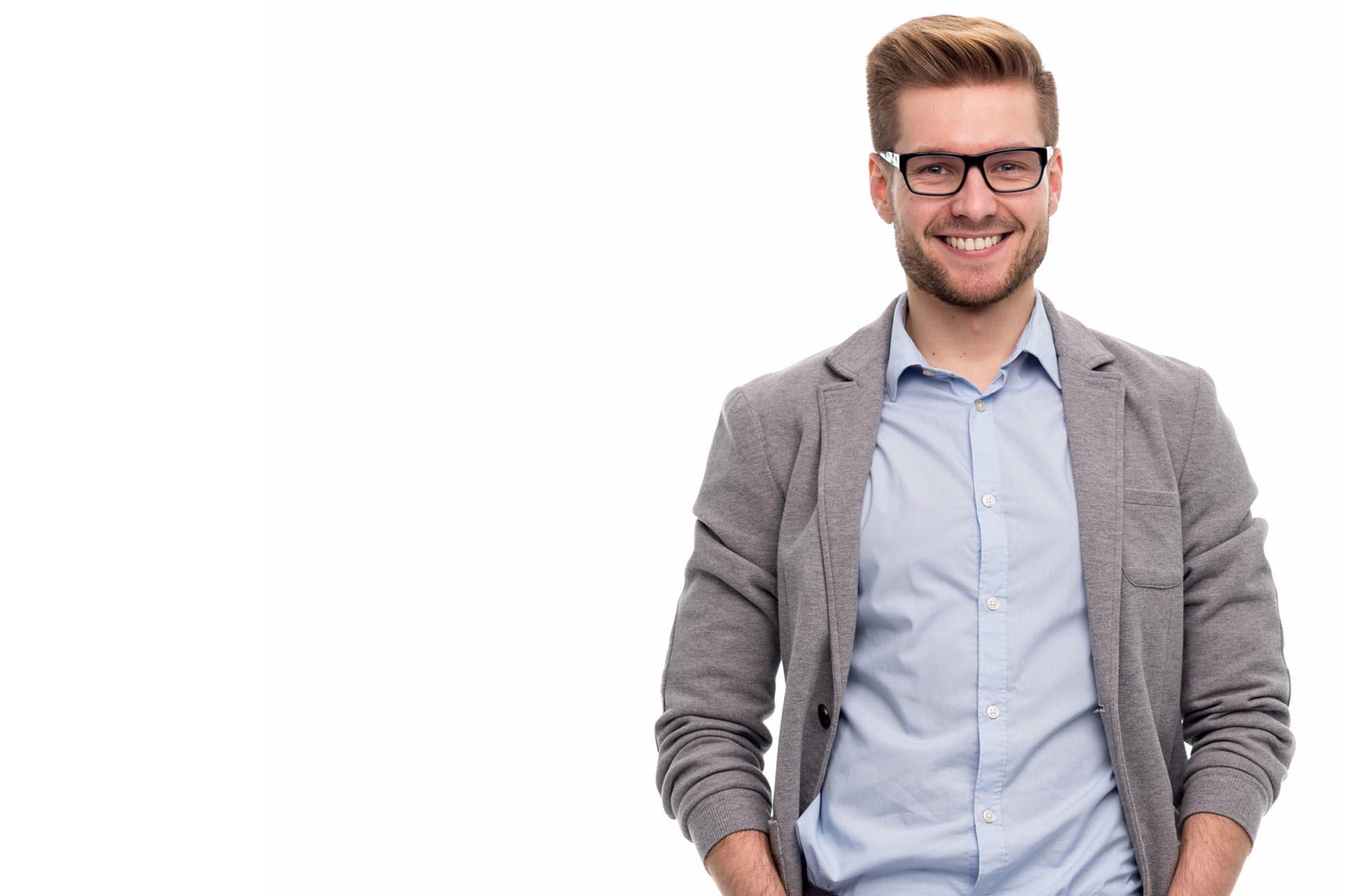Man smiling from p shot